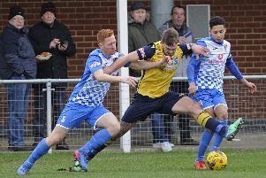 Steve Hutchings & Co were too powerful for AFC Totton on Saturday. Picture: Ian Hargreaves  (120119-3)