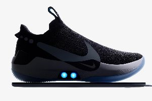 Nike Adapt BB basketball shoe, a connected shoe which is self-lacing and can be controlled from a smartphone. Picture: Nike/PA Wire