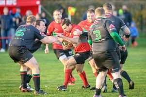 Robin Tyerman in Welsh's Vase quarter-final win over North Hykeham in November