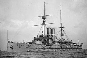 The last Portsmouth-based ship to be sunk in the First World War, HMS Britannia.