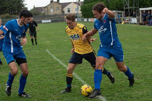 Conor Bailey opened the scoring for Moneyfields against Street. Picture: Vernon Nash (180422-006)
