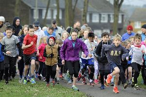 The start of Waterlooville junior parkrun on Sunday. Picture: Ian Hargreaves (200119-5)