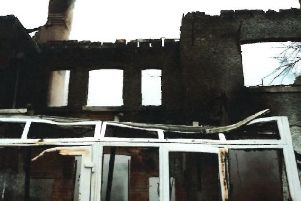 The farmhouse has been burned to the ground.