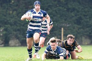 Scott Morris scored two tries for Havant against Thurrock. Picture: Neil Marshall