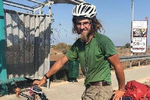 Oliver McAfee from Dromore in Co Down went missing while on a cycling trip around Israel.