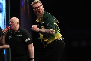 Simon Whitlock. Picture: Lawrence Lustig/ PDC