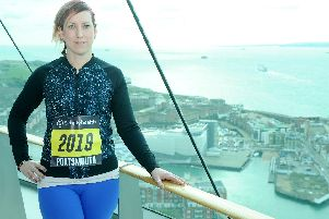 Lisa Dunkley, 38 from Fareham, pictured at the launch of the Great South Run at the Spinnaker Tower in Portsmouth on Thursday. Picture: Sarah Standing (310119-7865)