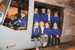 Children from Grange Infant School were given an extra special treat recently as they visited HMS Sultan.  Picture: PO Phot Nicola Harper