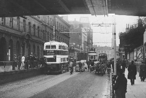 A marvellous period scene in Commercial Road, Portsmouth circa 1935.   Photo: Barry Cox collection.