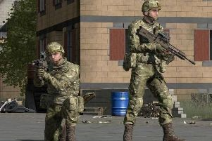 An example of what the VR programme might look like to soldiers using it. Photo: MoD