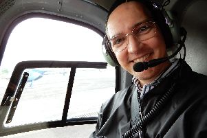 Richard in a helicopter during a holiday to Hawaii.