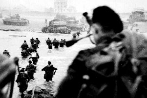 Troops storming the Normandy beaches on D-Day.'Photo: PA