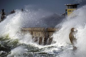 High winds are expected to batter Portsmouth this week. Picture: Lou Louis