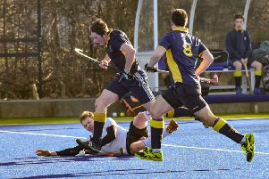 Action from Warwick Men's 1sts' clash with University of Warwick 1sts. Pictures: Louise Smith