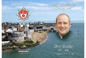 The Order of Service at firefighter Dave Barker's funeral