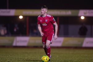 Josh Gould netted his first Worthing goal against Carshalton Athletic. Picture: Marcus Hoare