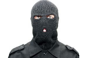 Steve has been wearing a balaclava - to protect others from seeing his ugly mug