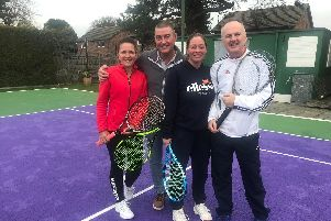 David Lloyd West End mixed masters team. Left to right: Mandy Snow, Seamus Cruise, Frair Burgess and David Croft
