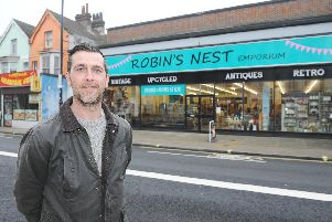 Nathan Alexander, the owner of Robin's Nest Emporium in West Street, Fareham.'Picture: Sarah Standing (050219-8490)