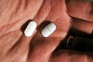 File photo of a pair of 500mg Paracetamol tablets. Picture: John Stillwell/PA Wire