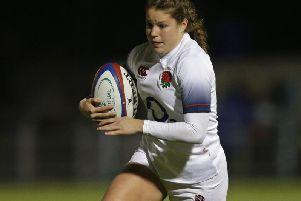 Jess Breach in England action / Picture by Getty Images for RFU Collection