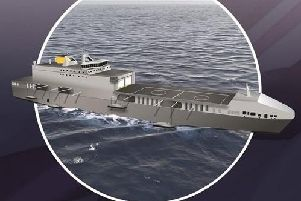 An example of what the two new strike ships will look like. Photo: Royal Navy.