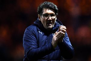 Luton manager Mick Harford. Picture: Clive Mason/Getty Images