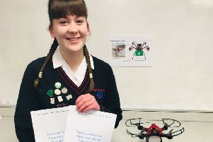 Emma Phillips with her paramedic drone