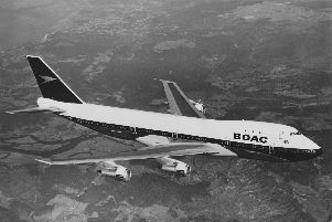 A British Airways Boeing 747 - which Rick Jackson very nearly flew in