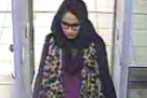 Shamima Begum, going through security at Gatwick airport, before catching a flight to Turkey in 2015 to join the Islamic State group. Picture: Metropolitan Police/PA Wire