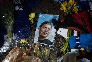 Tributes at Cardiff City Stadium for Emiliano Sala.
