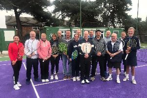 Masters tennis. Players involved in a recent midweek masters match at Warsash