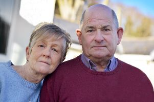 Peter and Linda Gallop said they were seconds from being killed when a van exploded in Hastings