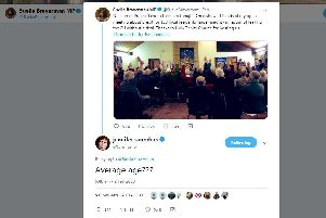 Comedian Jennifer Saunders replied to the tweet of Fareham MP Suella Braverman