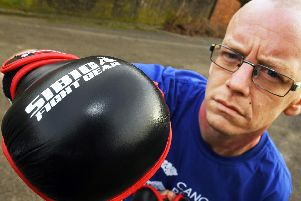 Nigel Golding, 35 from Lovedean, will enter the Ultra MMA octagon in March in a fight for charity. Picture: Malcolm Wells