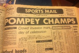 Pompey champions on day of crowd trouble at Plymouth - from the Sports Mail, May 1983