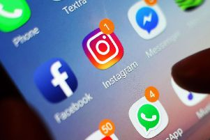 "Undated file photo of the Instagram icon. The photo-sharing platform is banning graphic images of self-harm after Health Secretary Matt Hancock said social media companies ""need to do more"" to curb their impact on teenagers' mental healt"