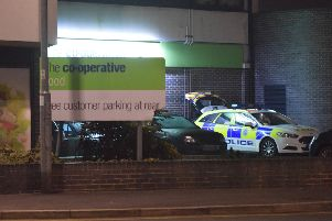 The robbery happened at Co-op in Seaside, Eastbourne last night. Photo by Dan Jessup