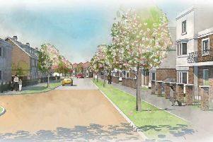 Illustrative artist's impression of scheme for 500 new homes in Hassocks