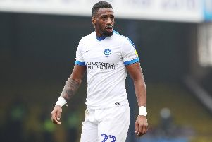 Omar Bogle operated in a twin strikeforce with Oli Hawkins at Southend. Picture: Joe Pepler