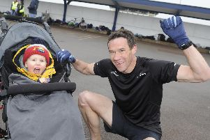 Team work: Adam Barlow with his son Rex after a very fast Southsea parkrun. Picture: Ian Hargreaves