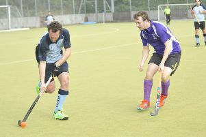 Gavin Cload on the ball during South Saxons' 4-2 win at home to Gillingham Anchorians. Picture by Simon Newstead