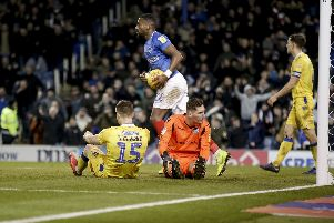Jordan Clarke gifts Pompey an equaliser against Bristol Rovers. Picture: Robin Jones
