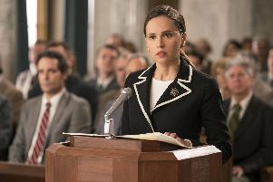 Pictured: Felicity Jones as Ruth Bader Ginsburg in On The Basis Of Sex.