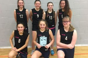Durrington High's year eight girls basketball team