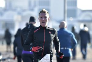 Rob Arkell leading the way in the 2018 Portsmouth Duathlon Series. Picture: Neil Marshall (171738-1)