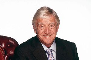 Sir Michael Parkinson was at the Kings Theatre, Southsea, last night.