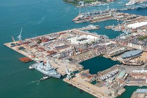 Portsmouth Naval Base could be getting a new, huge dry dock. Photo: Shaun Roster