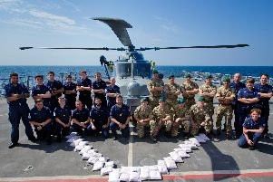 Destroyer HMS Dragon in fifth Middle East drugs haul