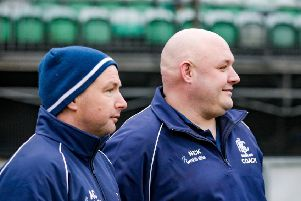 Development boss Nick Hall (right) with head coach Ashley Coates.